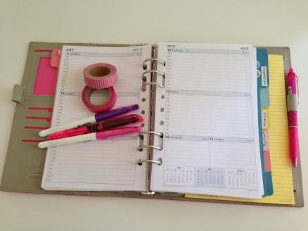 Debden weekly planner in Filofax