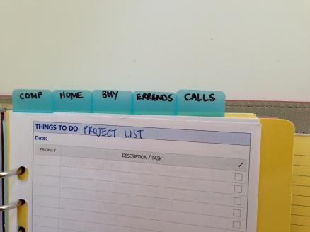 Filofax To Do lists