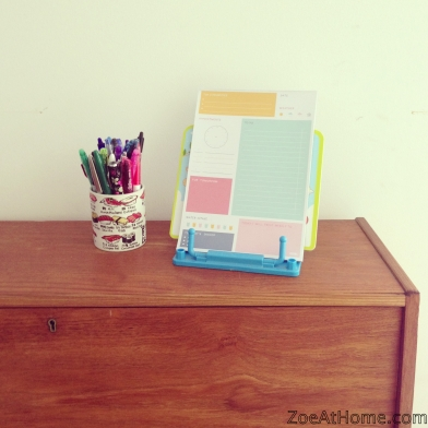 Organised habit: write lists Zoe at Home