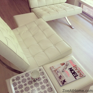 White Barcelona Chairs ZoeAtHome
