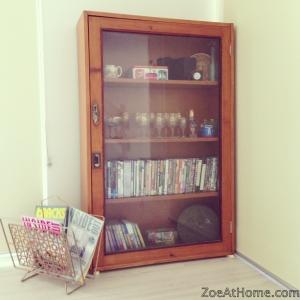 Vintage display cabinet ZoeAtHome.com