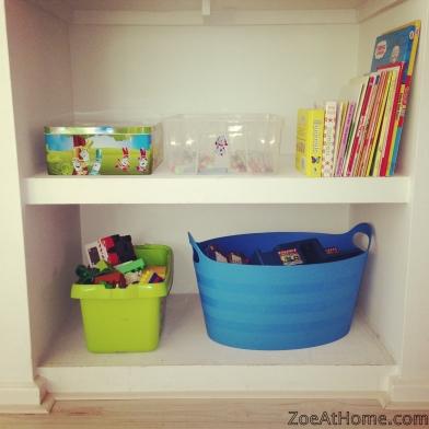 Toy storage ideas ZoeAtHome.com