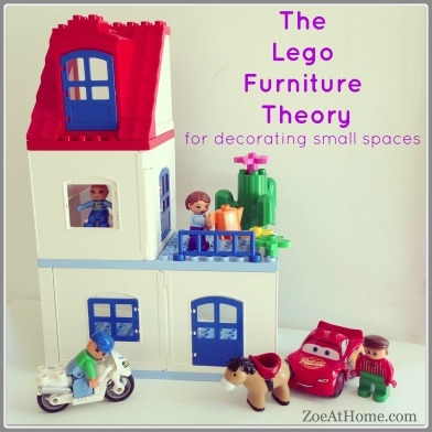 Lego furniture theory for decorating small spaces ZoeAtHome.com