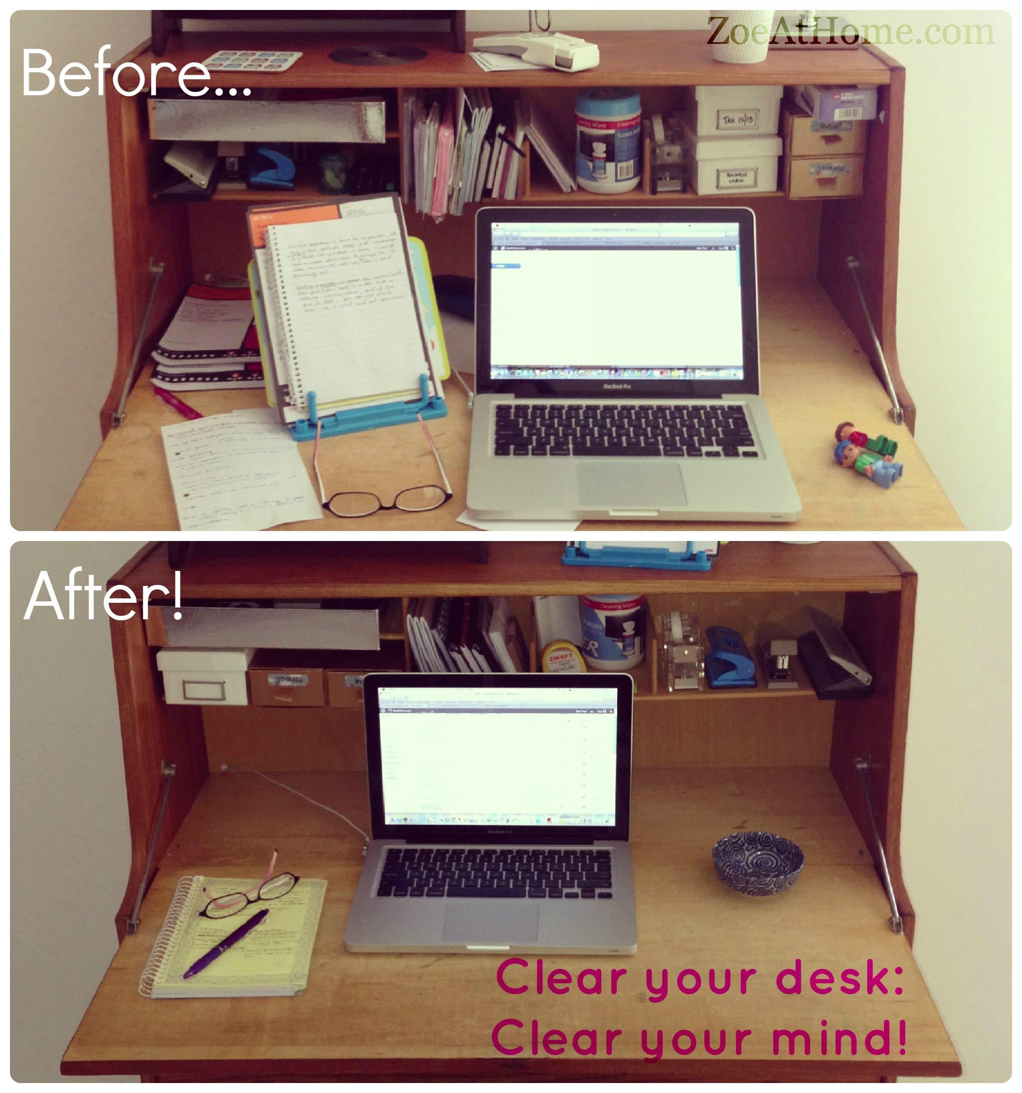 Declutter office supplies