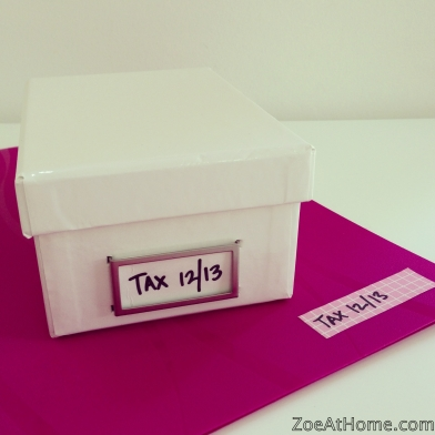 Filing tax papers ZoeAtHome.com