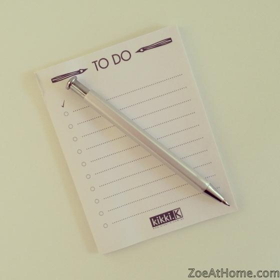 Organised habit #1: write lists