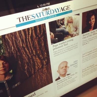 The Age iPad app ZoeAtHome.com
