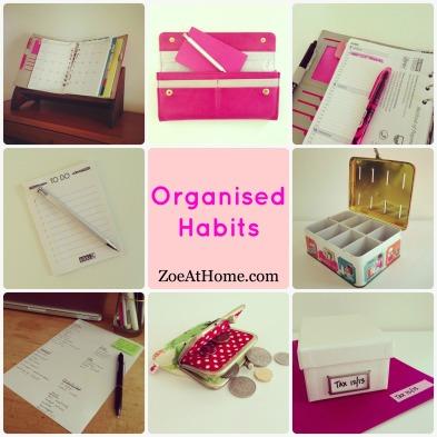 Organized habits ZoeAtHome.com