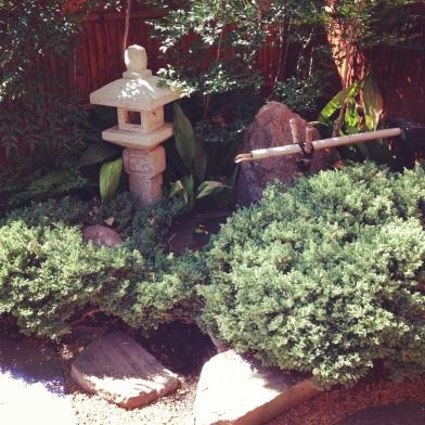 Japanese garden stone basin ZoeAtHome.com
