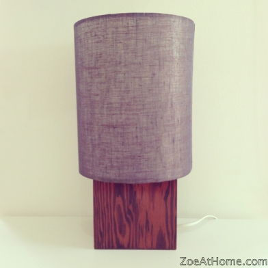 Vintage teak lamp base