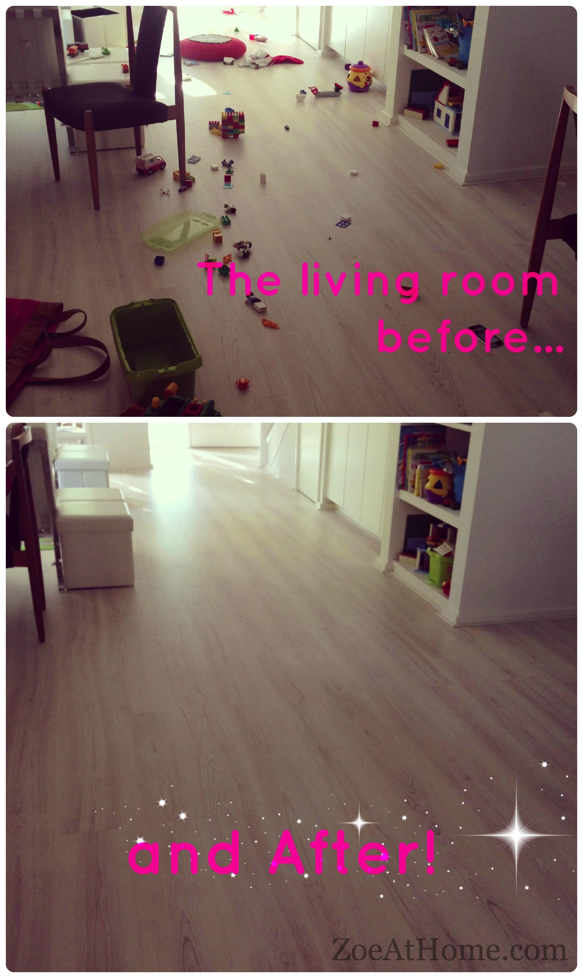 Kids And Clutter Declutter Living Room Zoeathome Declutter Living Room Before And After