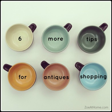 6 more tips for antiques shopping retro modern ZoeAtHome.com