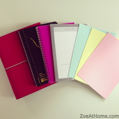 Uses for A5 notebooks and paper ZoeAtHome.com