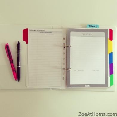 Home Management Binder To Do list ZoeAtHome.com