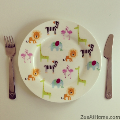 Kids plate and cutlery ZoeAtHome.com