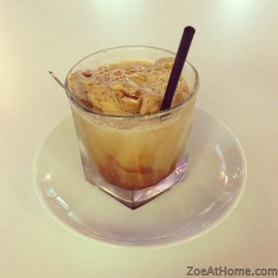 My weekly indulgence iced coffee espresso gelato ZoeAtHome.com