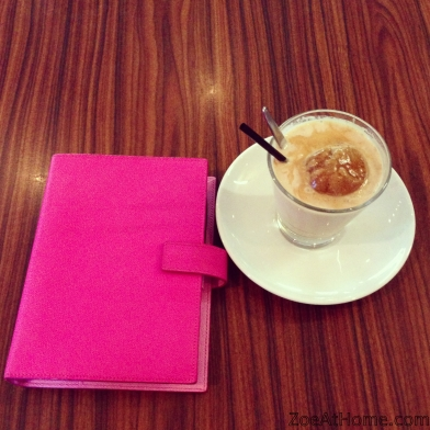 Coffee culture and organiser planner Filofax Smythson Bond Street