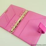 Fuchsia hot pink Smythson Bond Street Organiser organizer planner ZoeAtHome.com
