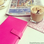 Smythson and coffee cafe newspaper