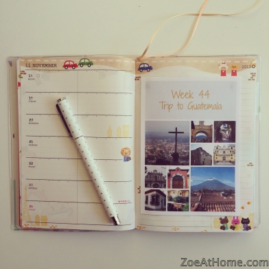 Weekly Project Life inspired photo journal hybrid
