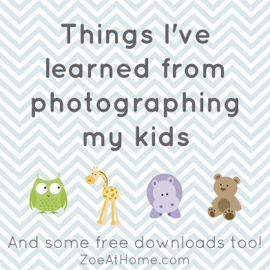 Tips for photographing your children. Project Life albums