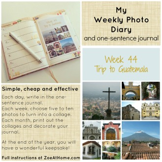 My alternative to Project Life weekly photo diary and one sentence journal