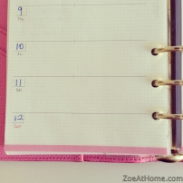 Saturday and Sunday large size planner pages