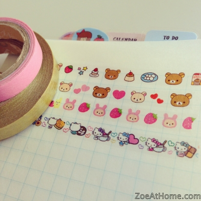 Sanrio Rikkauma Deco Rush tape kawaii Japan