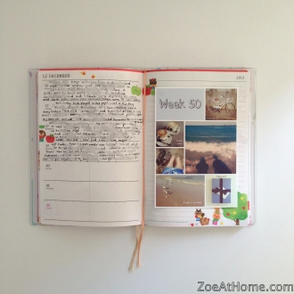 one-sentence journal with photos Project Life alternative