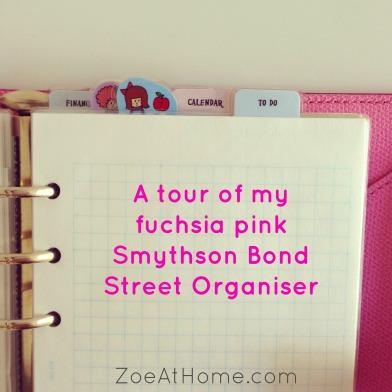 A tour of my Smythson Filofax organizer planner