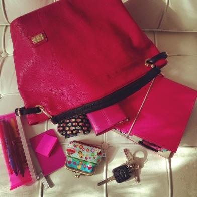 Pink handbag and matching Filofax planner ZoeAtHome.com