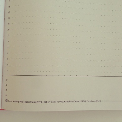 Day per page diary from Japan pink