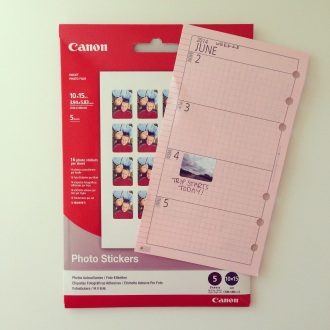 make own DIY photo stickers to decorate your Filofax planner
